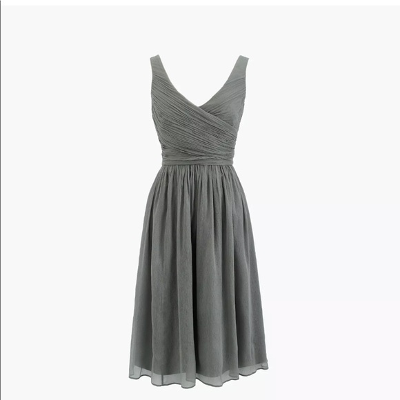 J. Crew Dresses & Skirts - J.Crew Silk Chiffon Heidi Dress—Graphite (Size 14)